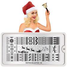 MoYou London Stamping Schablone Festive 30 Weihnachten Rentiere Schlitten