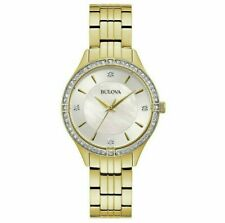 Bulova 98L274 Women's 32mm Gold-Tone Crystal Accent Watch
