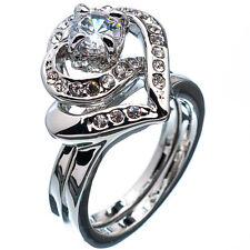 3.92 Ct Round Cut Solitaire Diamond 18K White Gold Plated Wedding Ring Size 7.5