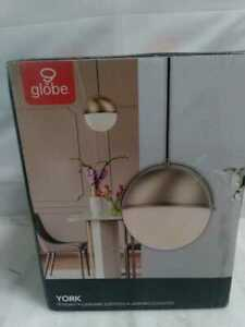 Globe Electric York 1-Light Matte Gold Pendant Lighting with Frosted Glass Shade