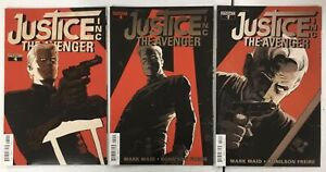 3x JUSTICE  INC THE AVENGER # 2 4 6 ~ The Shadow / Doc Savage ~ MARK WAID Story!