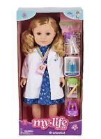"My Life as Scientist.Blonde 18"" Poseable doll Retired  Sold Out In Stores VHTF!!"