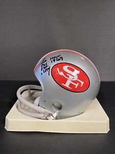 "Joe ""The Jet"" Perry Autographed San Francisco 49ers Mini Helmet HOF 1969 Rare"