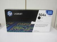 Original Toner HP 504A (CE250A) für LaserJet CP3525,CM3530 vom Händler NEU & OVP