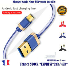 Charger Sync Micro USB Cable rapid Nylon Samsung LG HTC Sony Asus Huawei Xiaomi