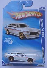 2010 Hot Wheels Custom V-8 Vega Col. #129 (White Version)(FTE Hub Wheels)