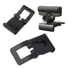 New Black TV Clip for Sony PS3 Move Eye Camera Mount Holder Stand Adjustable CV0