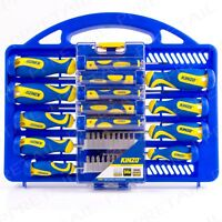 34Pc MAGNETIC TIP COMPLETE SCREWDRIVER KIT Precision Phillips Slotted Straight
