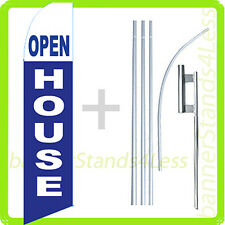 OPEN HOUSE Swooper Flag KIT Feather Flutter Banner Sign 15' Tall - bb