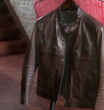 838916f6a Genuine Vintage Para Hombre De Cuero Biker Jacket marrón de Gucci 48 UK38  PVP 4,700 USD