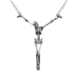 ALCHEMY SKELETON PENDANT ALTER ORBIS Gothic Skull Necklace + FREE POUCH