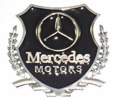 Mercedes Metal Decal Badges for the Wings of your Car. (A Pair of Badges)