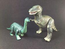 Vintage 1987 Tyco Toys Battery Operated Walking Dinosaurs T-Rex & Brontosaurus