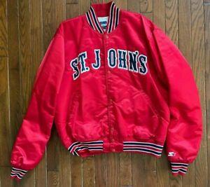 Vintage St John's NCAA Starter Satin Jacket Size Large