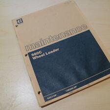 CAT Caterpillar 980C Wheel Loader Maintenance Manual guide book pay owner guide