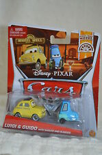 "Disney Pixar  Cars ""LUIGI&GUIDO With Shaker & Glasses "" (Wheel well Motel) NIP"