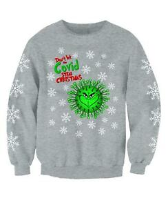 Grinch 2020 Childrens Funny Novelty Christmas Jumper Funny Printed Sweatshirt