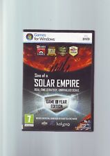 SINS OF A SOLAR EMPIRE GAME OF THE YEAR EDITION - GOTY PC GAME - COMPLETE - VGC