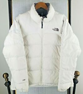 VTG THE NORTH FACE Size Large Nuptse 700 Womens Goose Down Jacket White Puffy