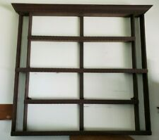"""Large (42"""" tall x 43"""" wide) Solid Wood 4 Tier Wall Plate Display Shelf Rack"""
