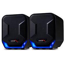Haut-parleurs d'ordinateur USB 6W Blue&Black Audiocore AC865 B Design moderne