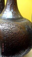 ANTIQUE KAJAR COPPER PERSIAN ISLAMIC   HAMMERED  WATER PITCHER VASE1850-1899
