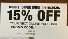 Home Depot 15% Off Your Next Online Purchase Exp 11/16/20