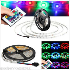 DIY 5M 300LED RGB 3528 SMD Car Interior Decor Light Strip & Wireless Controller