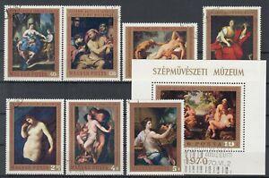 Hungary 1970 ☀ Art / Paintings Mi.2586/92 & Mi.2593 block 76 A ☀ 8v used
