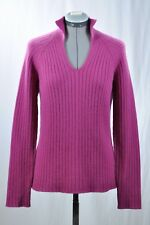 Neiman Marcus 4-ply cashmere V-neck  sweater, M
