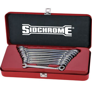 Sidchrome 10pce Metric Geared Wrench 467 Pro Series Set - SCMT22202N