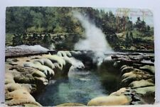 Yellowstone National Park Crater Oblong Geyser Postcard Old Vintage Card View PC