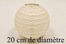 Boule en papier ivoire diam.20cm. Décoration mariage, baptême, communion.