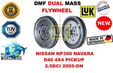 FOR NISSAN NP300 NAVARA D40 4X4 PICKUP 2.5DCI 2005-ON NEW DUAL MASS DMF FLYWHEEL