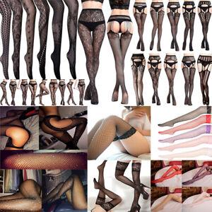 88Styles Women Sexy Lingerie Mesh Fishnet Garter Thigh High Stockings Pantyhose