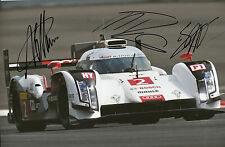 Lotterer, Treluyer, Fässler Audi Joest Hand Signed Photo 12x8 Le Mans 2.