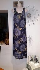 LADIES Maxi DRESS  SIZE blue multi