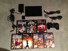 PLAYSTATION 2 LOT SLIM PS2 SYSTEM CONSOLE 15 GAMES MEMORY PS PLAY STATION