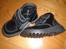NWT M&S toddler girl black patent shoes/boots. Ankle support. Size 8      (2/1)