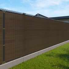 8FT brown Fence Privacy Screen Commercial 95% Blockage Mesh Fabric w/Gromment