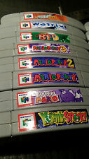 Nintendo N64 Cartridge Spine Top End Labels - ALL U.S. GAMES