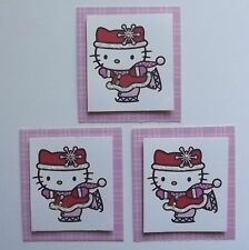 3 HELLO KITTY SKATING EMBELLISHMENT TOPPERS 4 CARDS
