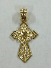 10K YELLOW GOLD CROSS PENDANT  BRAND NEW