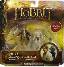 The Hobbit An Unexpected Journey Bilbo Baggins & Gollum 3.75 Inch Adventure 2 PK