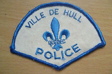 Patches: VILLE DE HULL QUEBEC CANADA POLICE PATCH (NEW*apx. 11x8 cm)