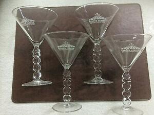 Vintage Circus Circus Millennium 2000 Martini Glasses - Set of 4
