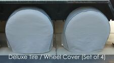 "Tire Wheel covers fits tire 30.5""-33.5"" RV's, Trailers, Truck, Van, SUV Set of 4"