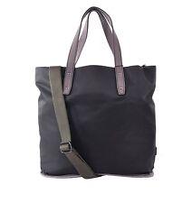 b96a0c59afae Dolce   Gabbana Nylon Leather SHOPPER Bag Tote With Logo Khaki Gray 05514