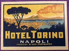 Luggage Label ~ Hotel Torino ~ Napoli/Naples (Italy)