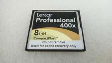 Lexar Professional UDMA 8GB 400x 60MB/SEC CompactFlash CF Memory Card 508-60729